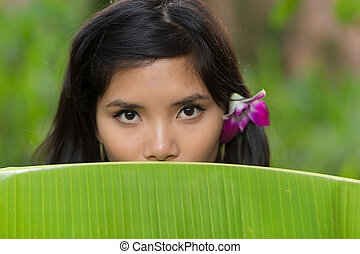 Portrait of a young Vietnamese woman
