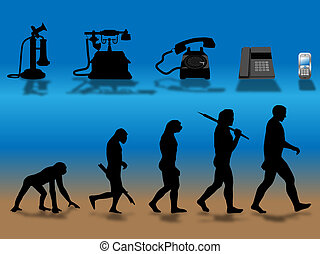 phone evolution - comparing human and phone evolution