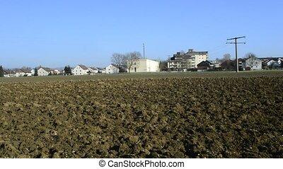 Field close between a housing area in Germany, Eislingen