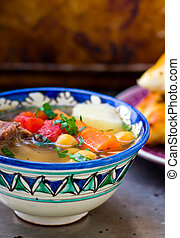 chorba, soup or stew found in national cuisines across...