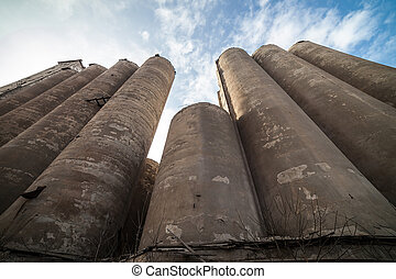 The granary of an abandoned grain elevator - The granary of...
