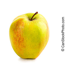 Red yellow apple isolated on white