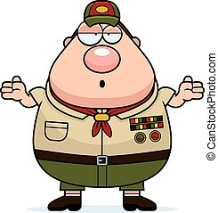 Confused Cartoon Scoutmaster
