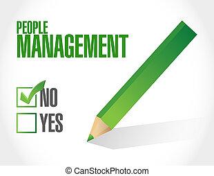 no people management illustration design over white