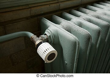 Heating - Closeup of a heating radiator in an old building