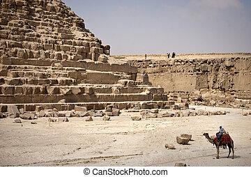 den, pyramid, Khafrae