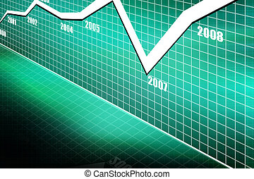 Stock market graph
