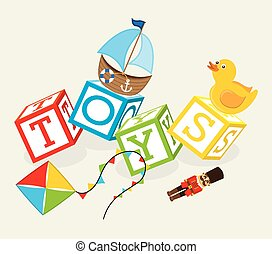 toys baby design, vector illustration eps10 graphic