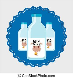 milk product design, vector illustration eps10 graphic