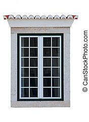 Résidentiel, fenêtre, cadre, isolé,...