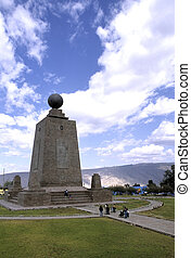 Monument- Ecuador - La Mitad del Mundo (middle of the World)...