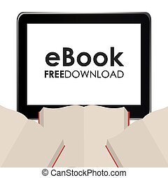 e-book design, vector illustration eps10 graphic