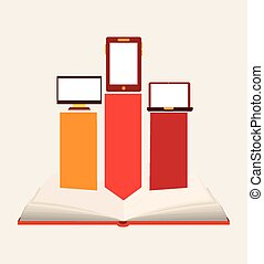 e-book design, vector illustration eps10 graphic