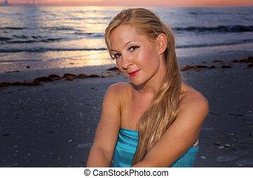portrait of beautiful blonde