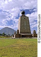 Equatorial monument- Ecuador - La Mitad del Mundo monument...