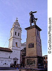 Statue & Basilica- Quito, Ecuador