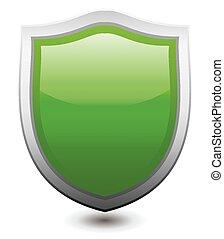 Vector illustration Green shield