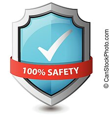 Vector illustration of 100% safety