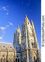 Church- Ecuador - Exterior of the 20th century Church of the...