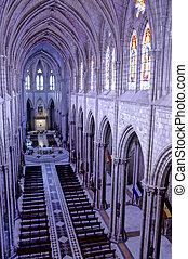 Basilica interior- Quito, Ecuador