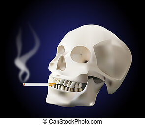 smoking skull - think about what smoking can do to You