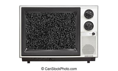 Vintage 1980s Television with Stat - Vintage 1980s...