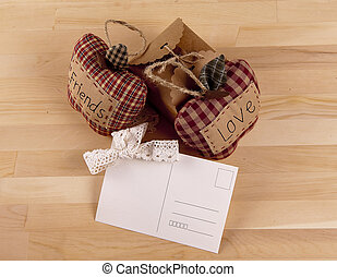 Beautiful composition with invitation cards, love and friendship.