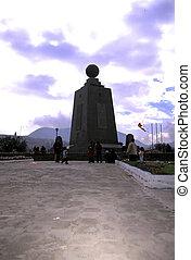 Monument- Ecuador - Mitad del Mundo monument at the Equator...