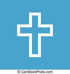 Protestant Cross white icon - Protestant Cross web white...