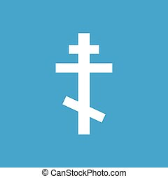 Orthodoxy white icon - Orthodoxy web white icon isolated on...