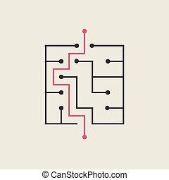 modern square maze