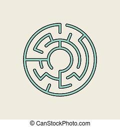 blue circular maze