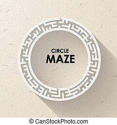 elegant circular maze with shadow