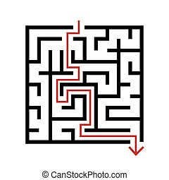 simple square maze