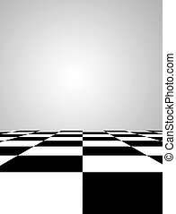 Floor - Black and white squares floor Space to insert text...