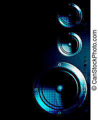 Music speakers - Blue speakers with light effects, Sound and...