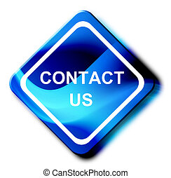 Contact us dynamic advertisement over white background