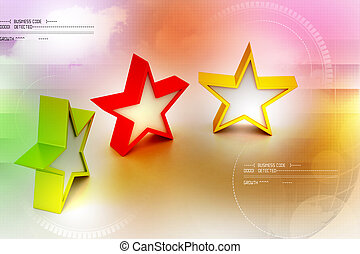 3d rendering  stars