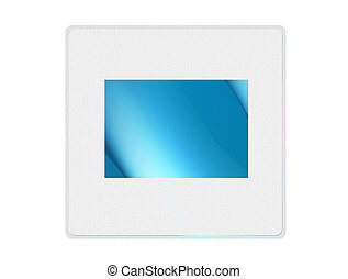 Slide - White slide with blue space to insert text or...