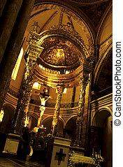 iglesia, interior-, cuenca, Ecuador