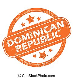 Dominican Republic grunge icon - Dominican Republic orange...