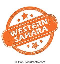 Western Sahara grunge icon