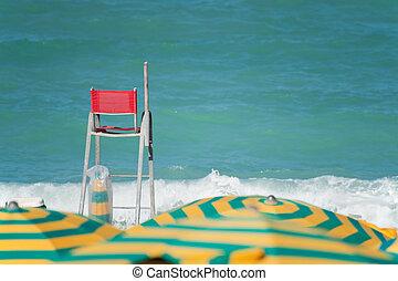 Beach in the summer