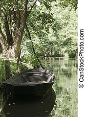 River boat at Spreewald, a biosphere reserve in Germany