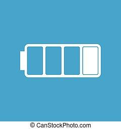 Battery white icon