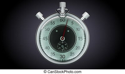 Ticking chronometer stopwatch - Realtime speed 30 seconds...