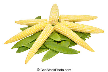 Baby Sweet Corn And Mangetout Peas - Fresh baby sweet corn...