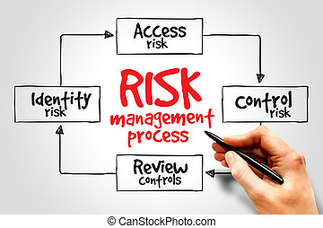 Risk management process mind map, business concept