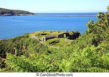 Fishguard Fort, Fishguard, Pembrokeshire, Wales, UK was...