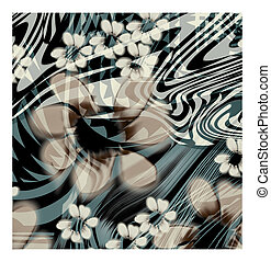 flower texture - many light curves lighted on beautiful...